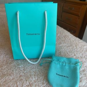 Authentic Tiffany & Co shopping bag and felt pouch